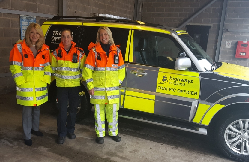Esther with Traffic Officers at Highways England