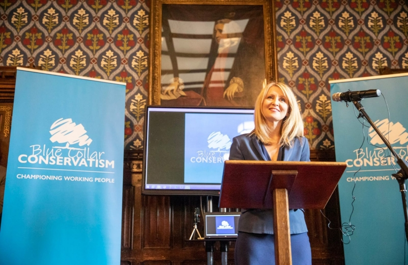 Esther at the Blue Collar Conservative launch in Westminster