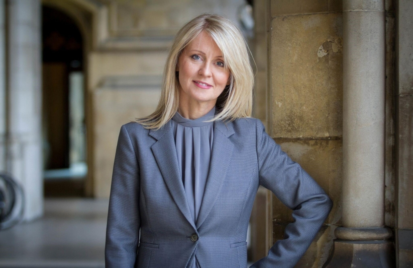 Esther McVey in the Houses of Parliament