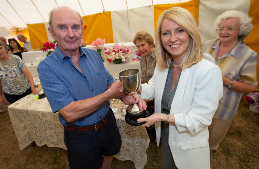 Presenting prizes for Alderley Edge and Wilmslow Horticultural Society