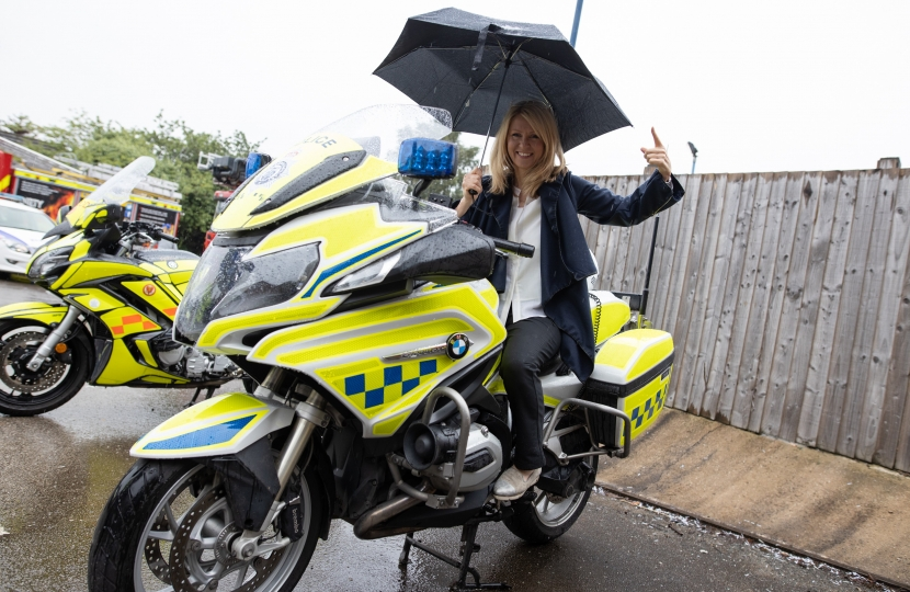 Police motorbike for size