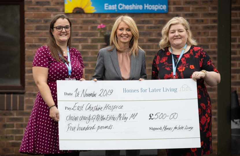 Esther with Karyn Johnson from ECH and Emma Webster from Homes from Later Living