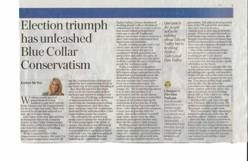 article in Daily Telegraph