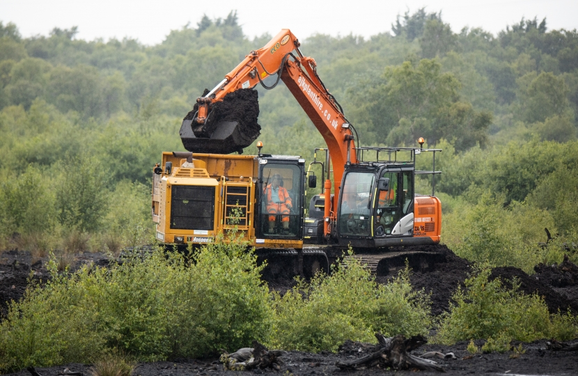 Peat works at Lindow Moss